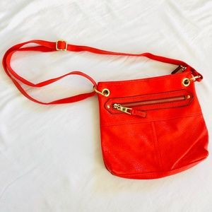 Handbags - Faux Leather Red Crossbody